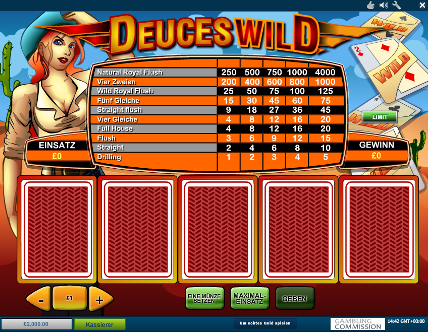 deuces wild deutsch
